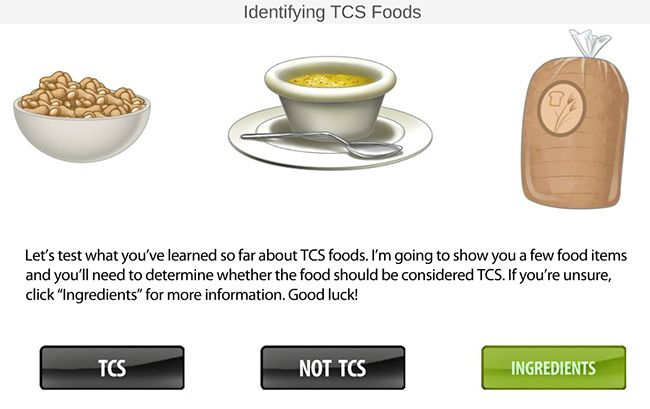 TCS foods interactive game slide